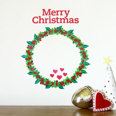 Christmas Wreath wall decal