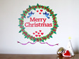 Christmas wreath wall decal pohutukawa