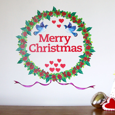 Christmas Wreath wall decal