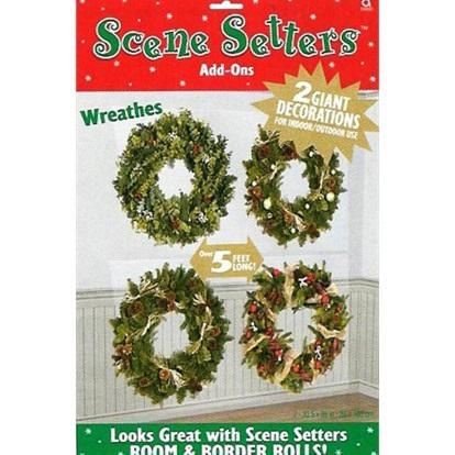 Christmas Wreaths Scene Setters