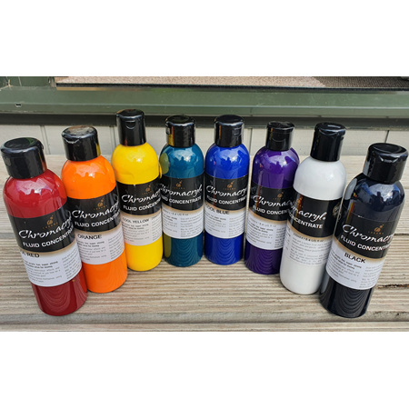 Chromacryl Fluid Paint Set 8 x 250ml