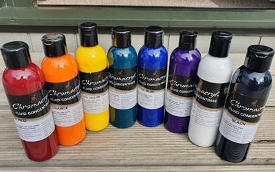 Chromacryl Fluid Paint Set 8 x 250ml