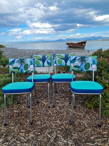 Chrome Chairs Native NZ Inspired - Set of 4