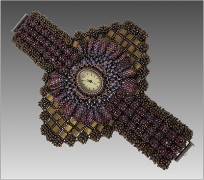 Chronus Cuff Bead Weaving Pattern