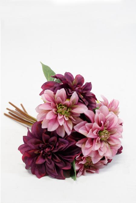 Chrysanthemum Bouquet Pink Burgundy  4368