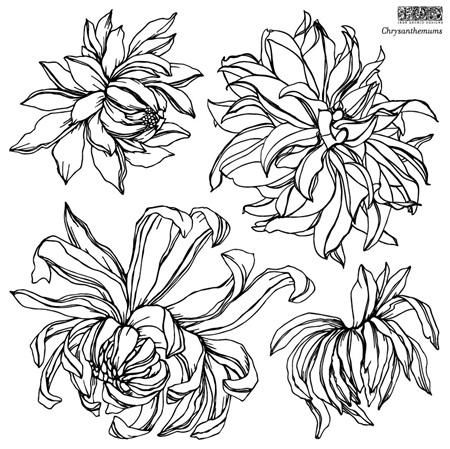 Chrysanthemum IOD Decor Stamp (2 pages)