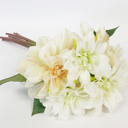 Chrysanthemum Posy White Peach 4367