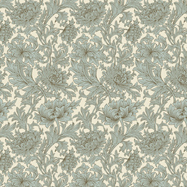 Chrysanthemum Toile Cream