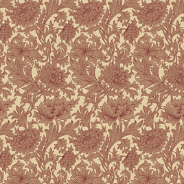 Chrysanthemum Toile Red