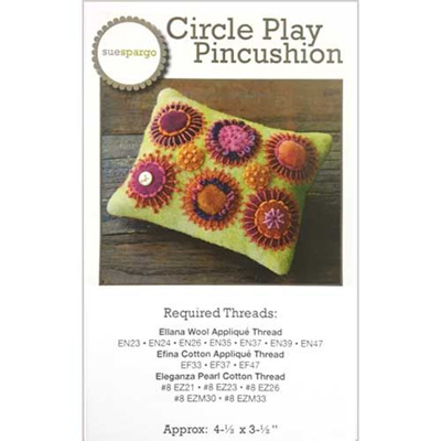 Circle and Play Pincushion by Sue Spargo