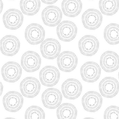 Circle Burst White on White 2122-100