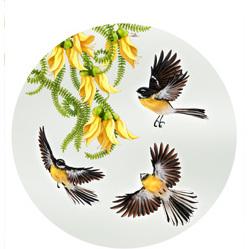 Circle - NZ In Flight Piwakawaka - Framed Print