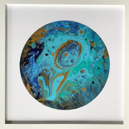"Circle of Life - Original - 16 x 16"" Frame"