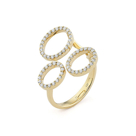 Circle's Diamond Statement Ring