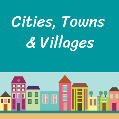 Cities, Towns & Villages