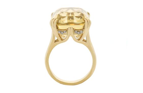 citrine diamond ring, citrine ring, dress ring, citrine dress ring