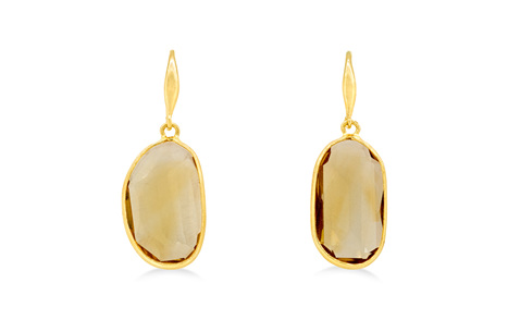 Citrine Hook Drop Earrings