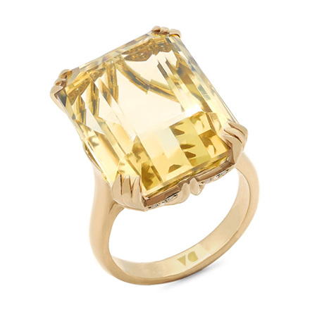 Citrine Solitaire Dress Ring