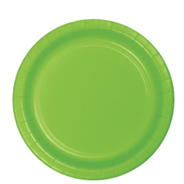 Citrus Green Party Dinner Plates x 24