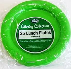 Citrus Green Plastic Plates x 25