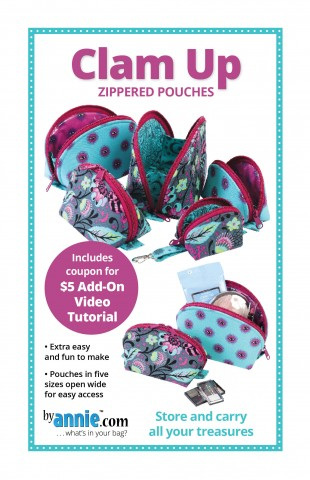 Clam Up - Zip Pouches