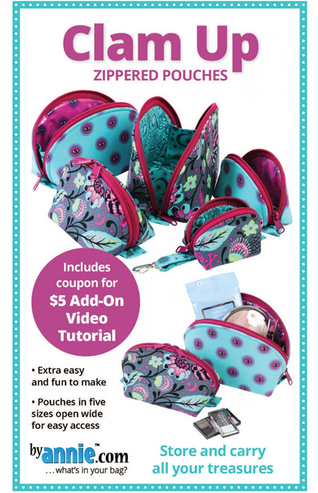 Clam Up Zipper Pouches Pattern