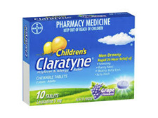 Claratyne Children's Chewable Tablets Grape 10s