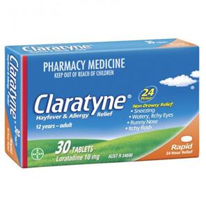 Claratyne Hayfever Allergy Relief 30 Tablets