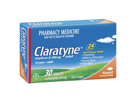 Claratyne Hayfever  Allergy Relief Antihistamine Tablets 30 pack 30 days