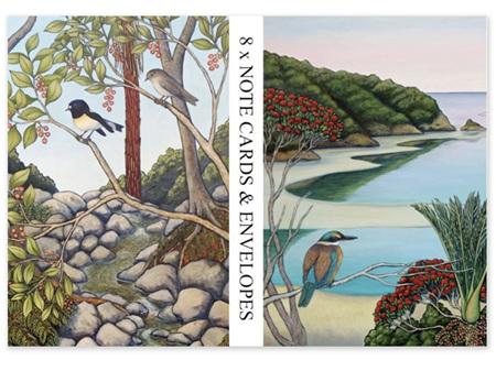 Clare Reilly Miromiro & Kingfisher Notecards 8