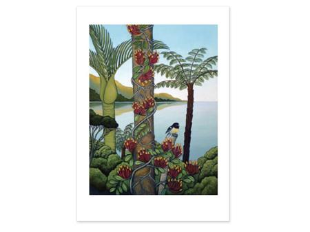 Clare Reilly Miromiro Mistletoe Card