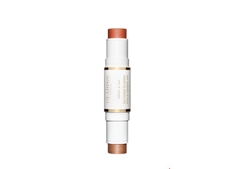Clarins 2-in-1 Blush and Highlighter Stick - 01 Glowy Pink