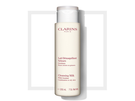 Clarins Cleansing Milk With Gentian  CombinationOily Skin