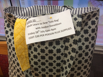 CLASS 22 Adult Learn to Sew Tote Bag with Amber Donaldson