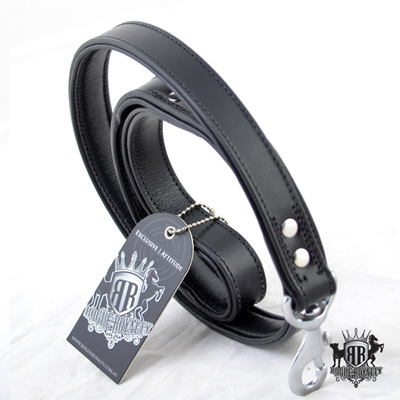 Rogue Royalty Classic Padded Black Leather Leash