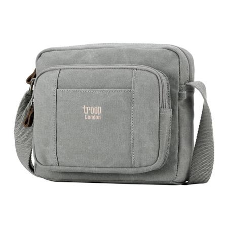 Classic Canvas Cross Body Bag - Ash Grey
