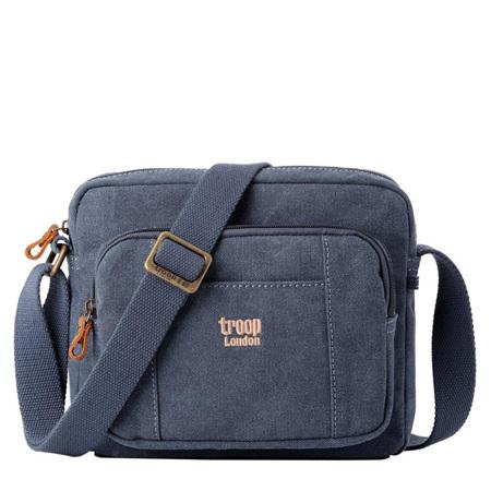 Classic Canvas Cross Body Bag - Blue