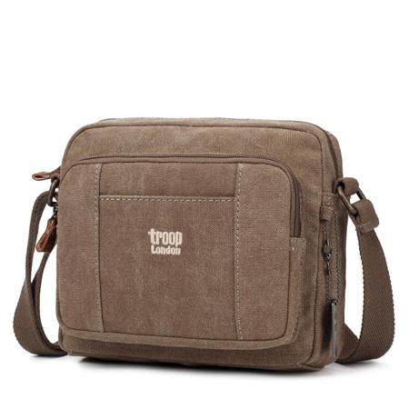 Classic Canvas Cross Body Bag - Brown