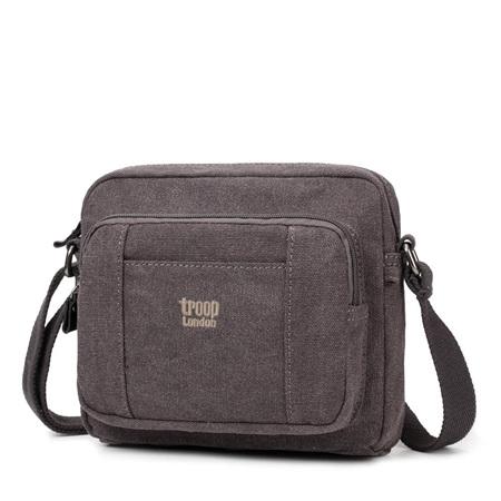Classic Canvas Cross Body Bag - Charcoal