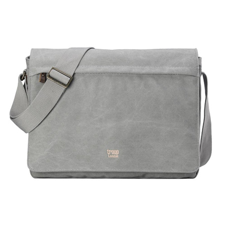 Classic Flap Front Messenger Bag - Ash Grey