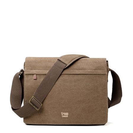 Classic Laptop Messenger Bag - Brown