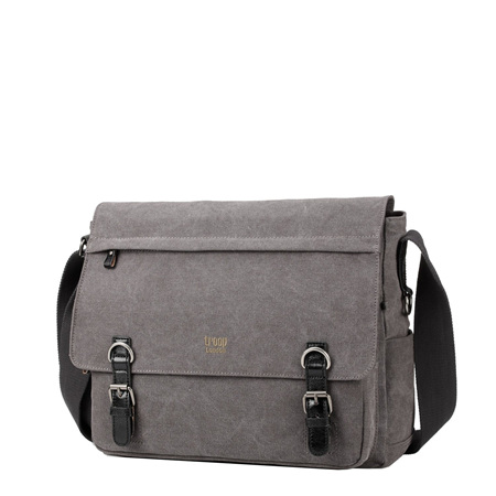 Classic Laptop Messenger Bag Charcoal