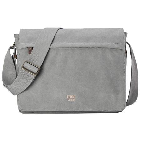 Classic Large Flap Front Messenger Bag - Ash Grey