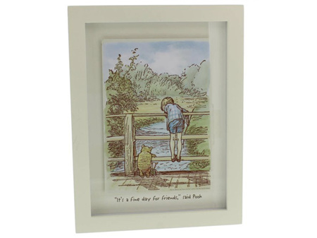 Classic Pooh Wall Plaque Fine Day for Friends