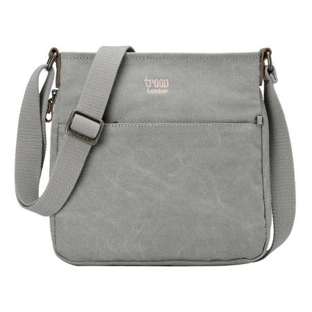 Classic Small Zip Top Shoulder Bag - Ash Grey