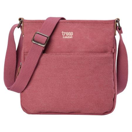 Classic Small Zip Top Shoulder Bag - Pink