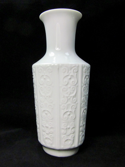 Classic Style White German Porcelain Vase
