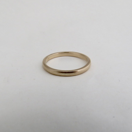 Classic Wedding Band In 9k