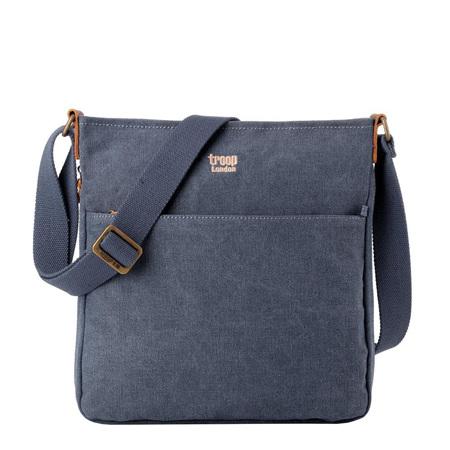 Classic Zip Shoulder Bag -  Blue
