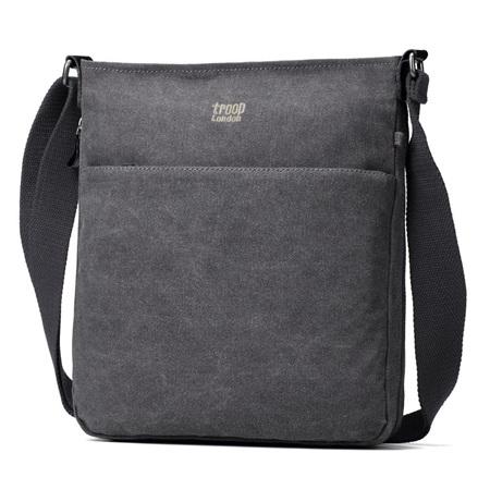Classic Zip Shoulder Bag - Charcoal